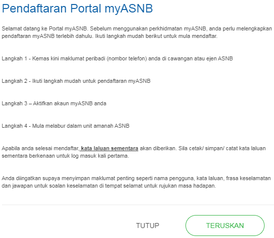 cara daftar myasnb